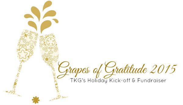 Special Event & Fundraiser – Grapes of Gratitude on Sat 14 Nov 2015